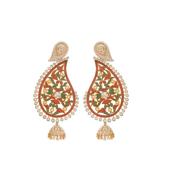 The Indian Mango Paisley Jewellery Inspired By This Juicy King Of The Fruits Paisley Jewelry Antique Jewellery Designs Jewelry