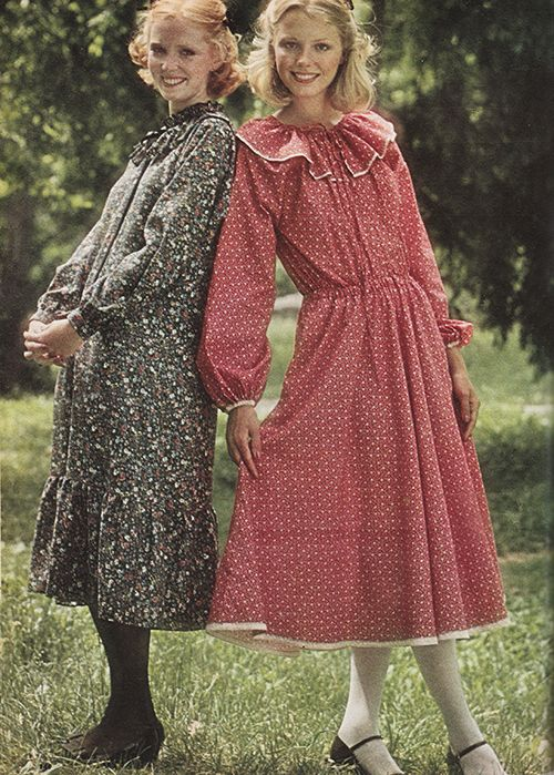 September 1977. \'Dresses for that special date — all gently ruffled ...
