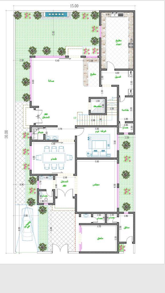 جميل استقلال وخصوصية للعائلة والضيوف Minimal House Design Affordable House Plans House Layout Plans