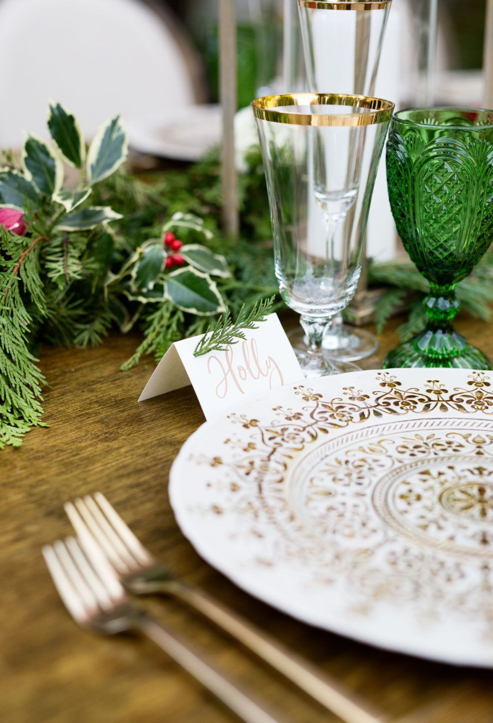 Elegant Italian Holiday Dinner Party TableScapes...Table