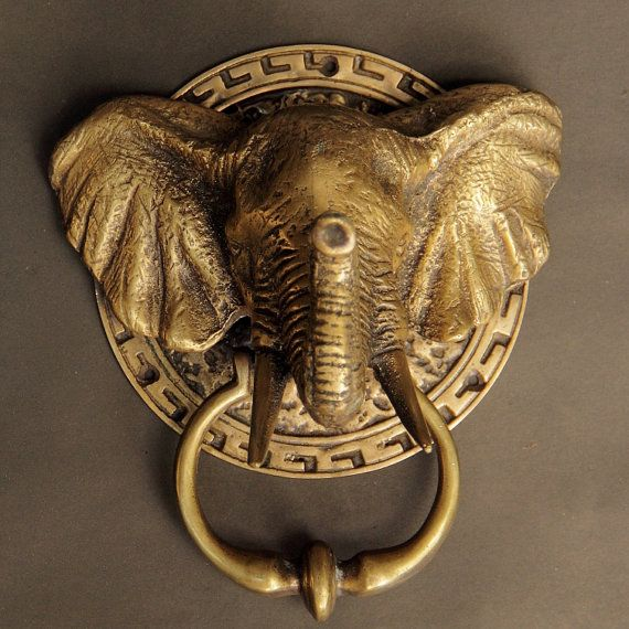 This is Elephant antique brass unique door knockers - Decorative ...