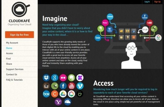 Access, Manage & Share Cloud & Social Media Content With CloudKafe