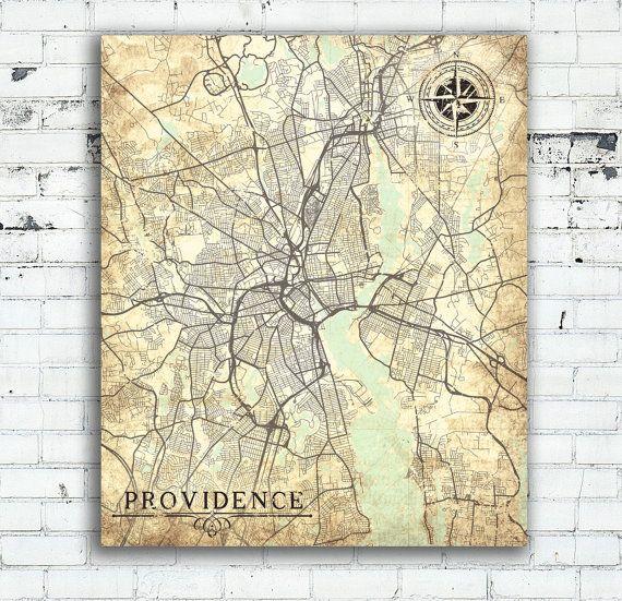 PROVIDENCE RI Canvas Print Rhode Island State Providence City ri