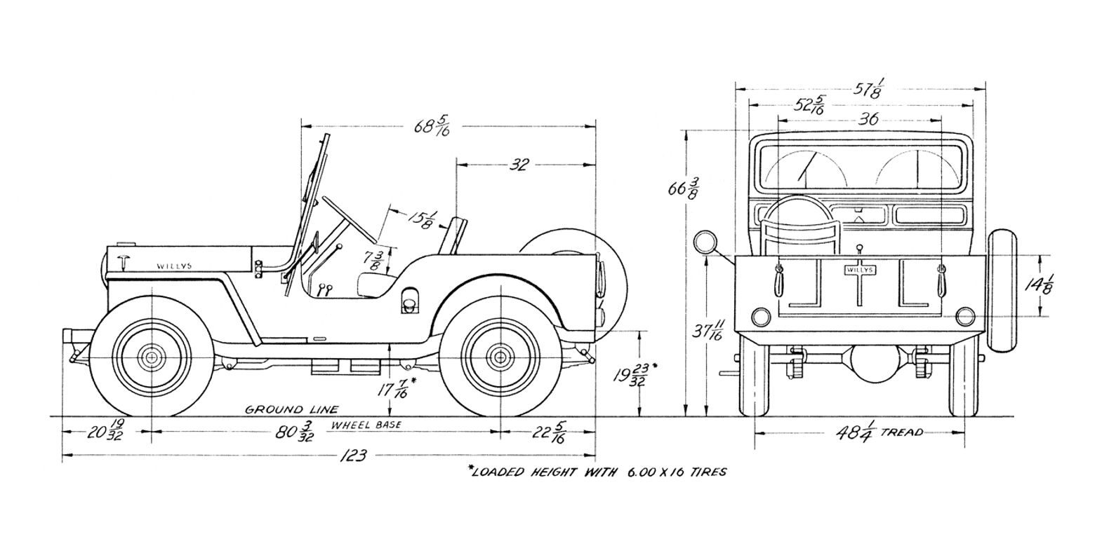 jeep cj2a wiring diagram apexi afc neo schematics for cj 3a cj3a pinterest