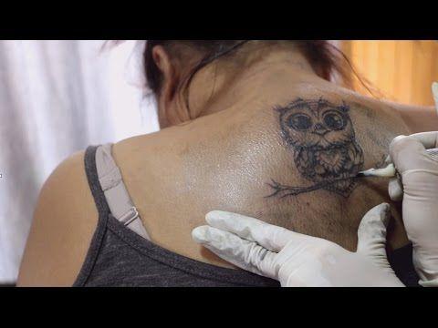 ผลงานสักลาย รูปนกฮูก Tattoo