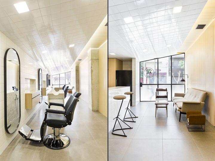A S Barbershop By Felipe Hess Sao Paulo Brazil Retail Design Blog Salon Interior Design Salon Interior Bridal Suite Decor