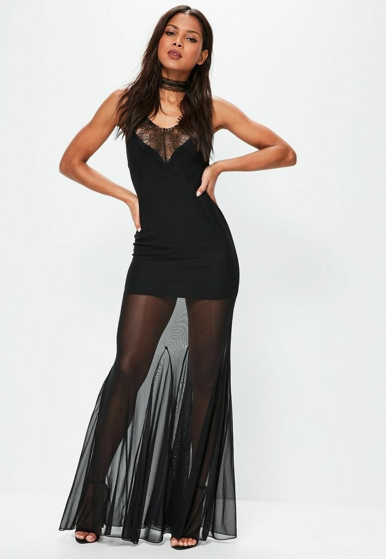 Black strappy mesh lace maxi dress lv clothes pinterest casual