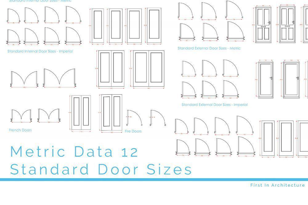 Metric Data 12 Standard Door Sizes in 2020 Standard