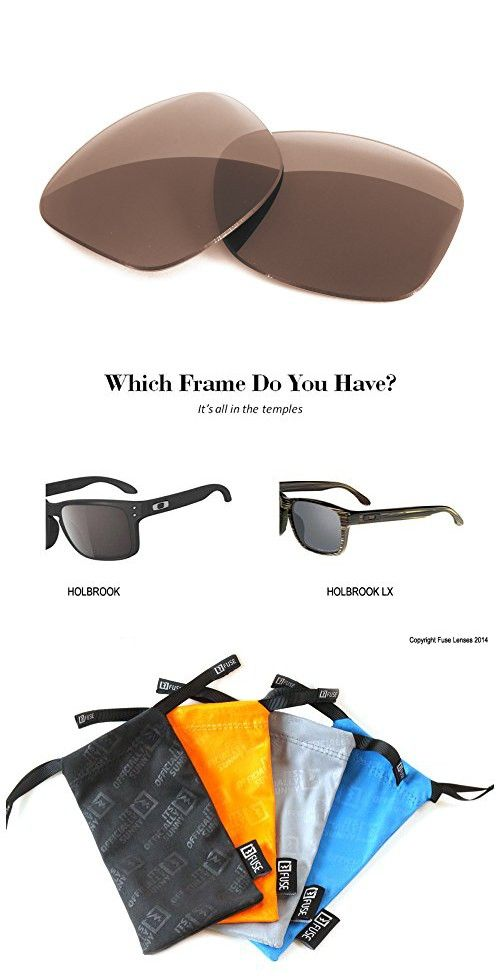 4588a2a6877d3 FUSE+ Polarized Brown Replacement Lenses for Oakley Holbrook ...