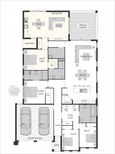Duo Dual Living Floorplans Mcdonald Jones Homes Australian House Plans House Plans Australia New House Plans
