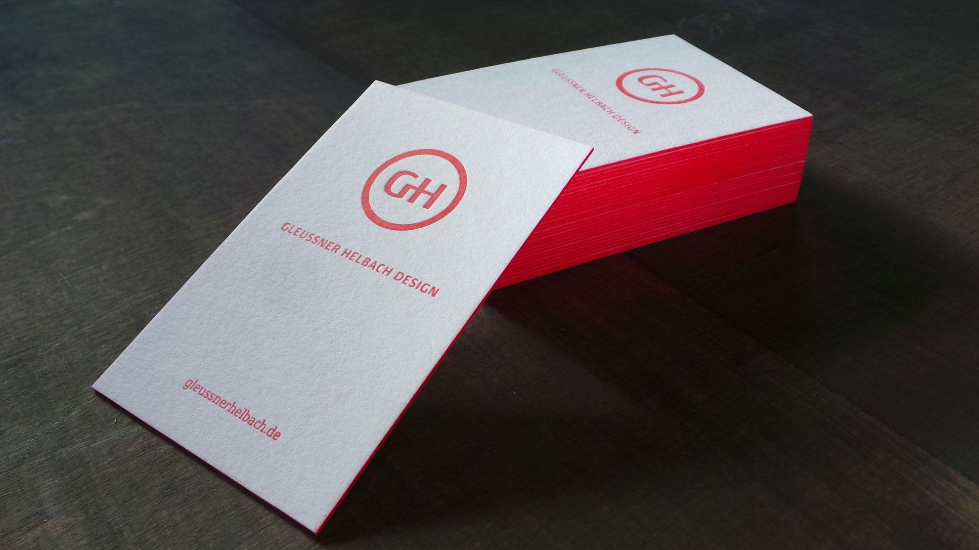 Visitenkarten Mit Farbschnitt Letterpress Made By