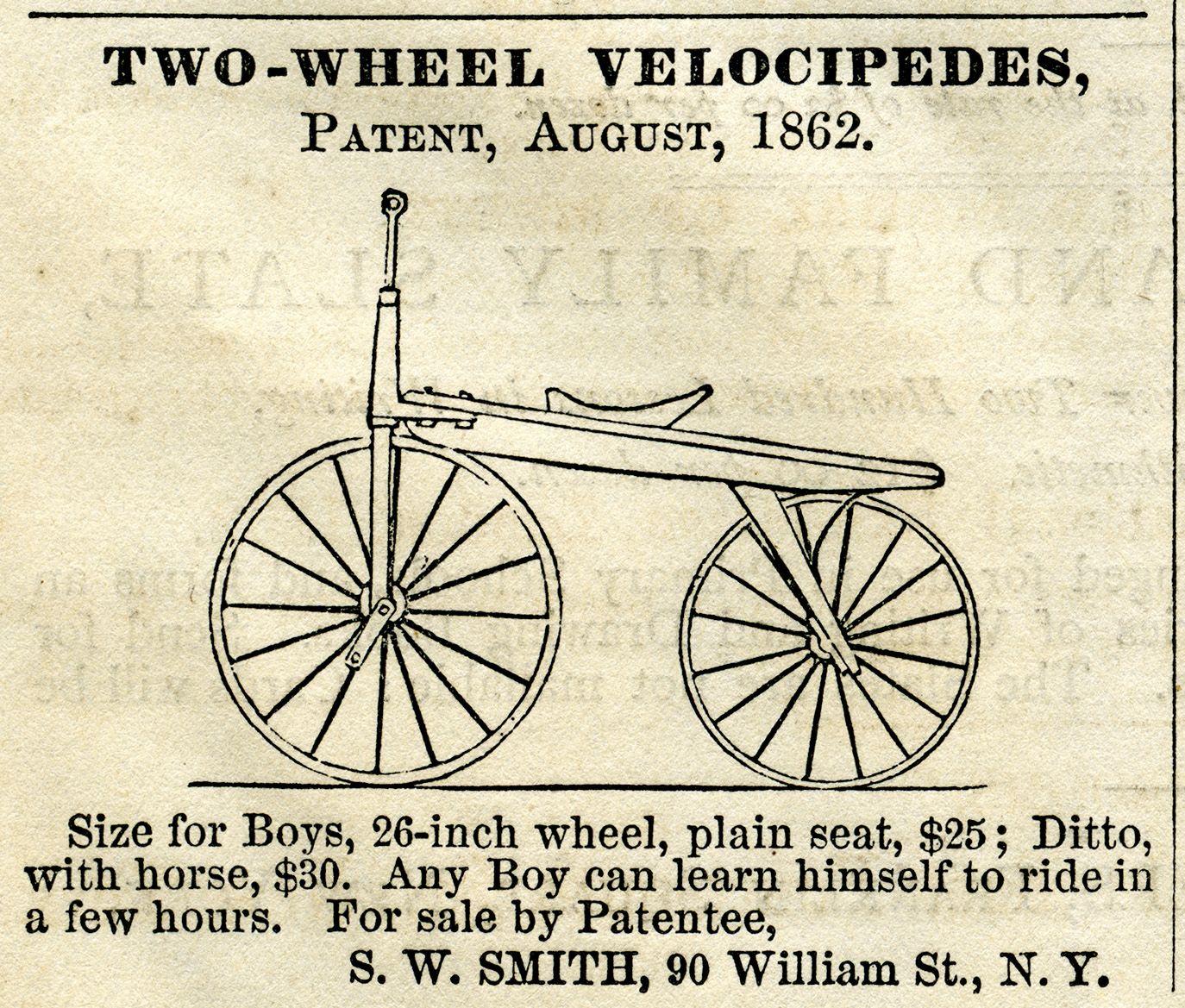 vintage magazine advertising two wheel velocipede antique bicycle