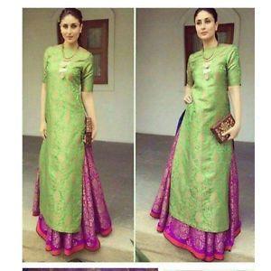 ac7c8bd243ac2 Kareena-Kapoor-Green-Pink-Lehenga-Suit   bb in 2019   Lehenga suit ...