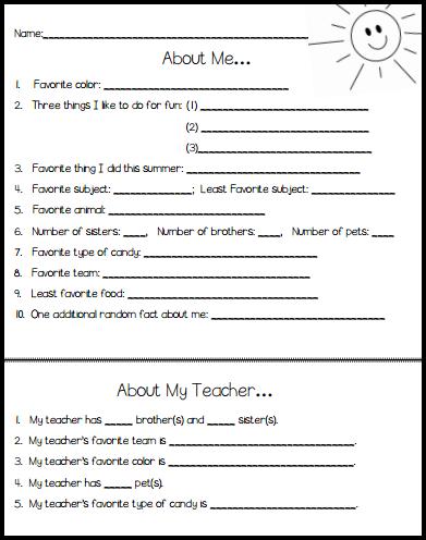 Back to School Icebreaker Idea for Middle School | School ...