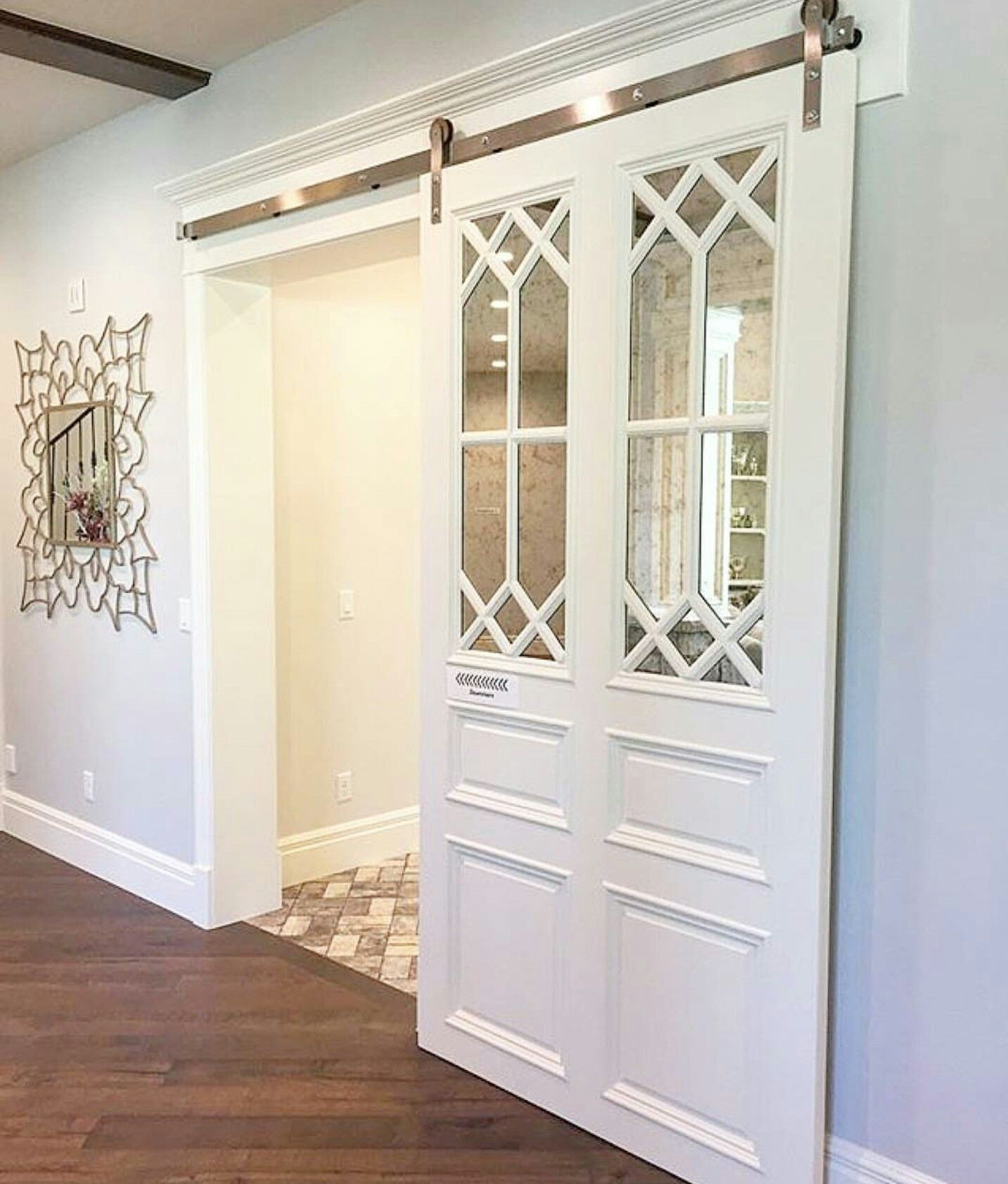 Barn Door Ideas White With Glass Inlay By Mill Haven Homes