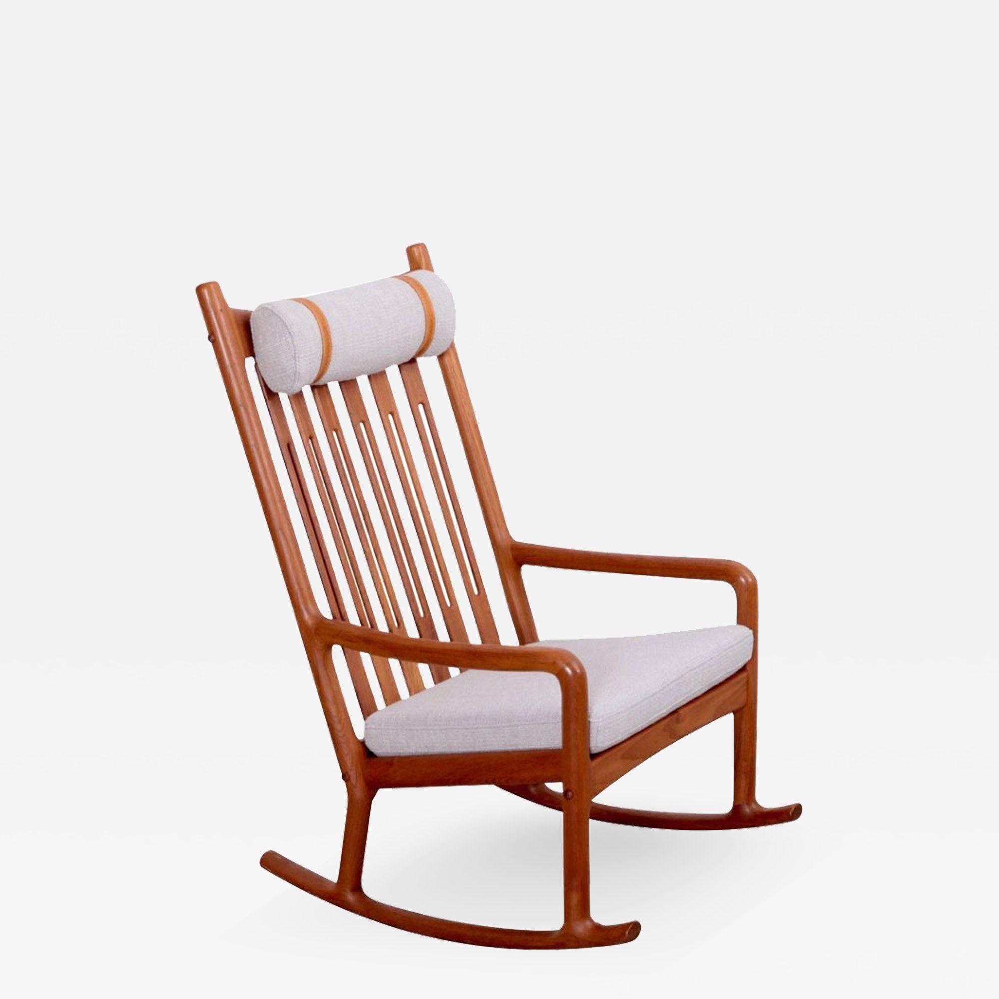 Jacob Kjer Rocking Chair In Teak Denmark 1960s Chair Rocking Chair Rocker Chairs