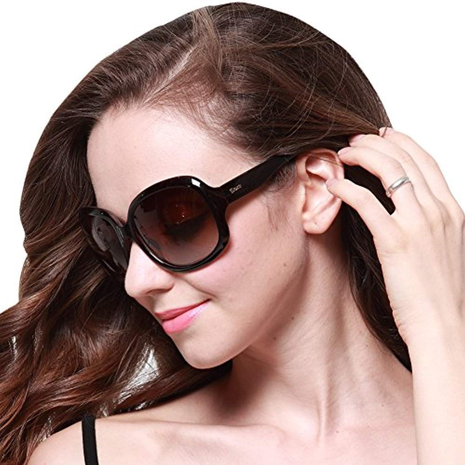 b8f3e81047 Women s Oversized Polarized Sunglasses 100% UV Protection 3113 Coffee Frame  Brown Lens     Read more reviews of the product by visiting the link on the  ...