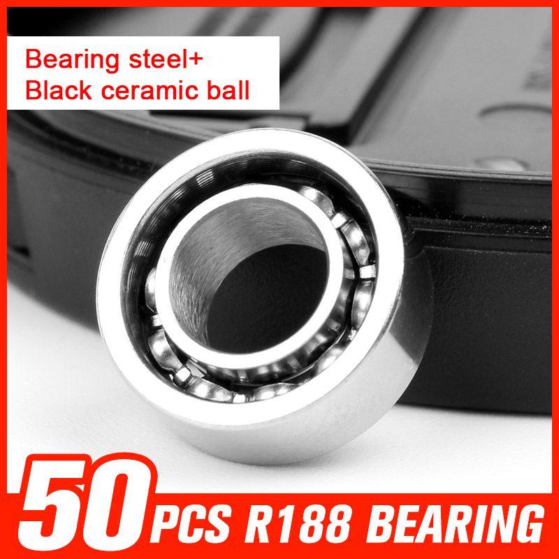 50pcs Bearing R188 Bearing Steel Ceramic Ball Bearings For Metal Hand Spinner Game Spinning Time Hardware Tool Accessori Spinner Tool Tool Accessories Hardware