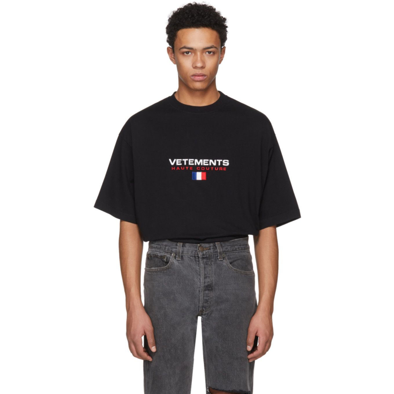 7cad25ca9 Vetements - Black Haute Couture Logo T-Shirt | Stupid Fashion ...