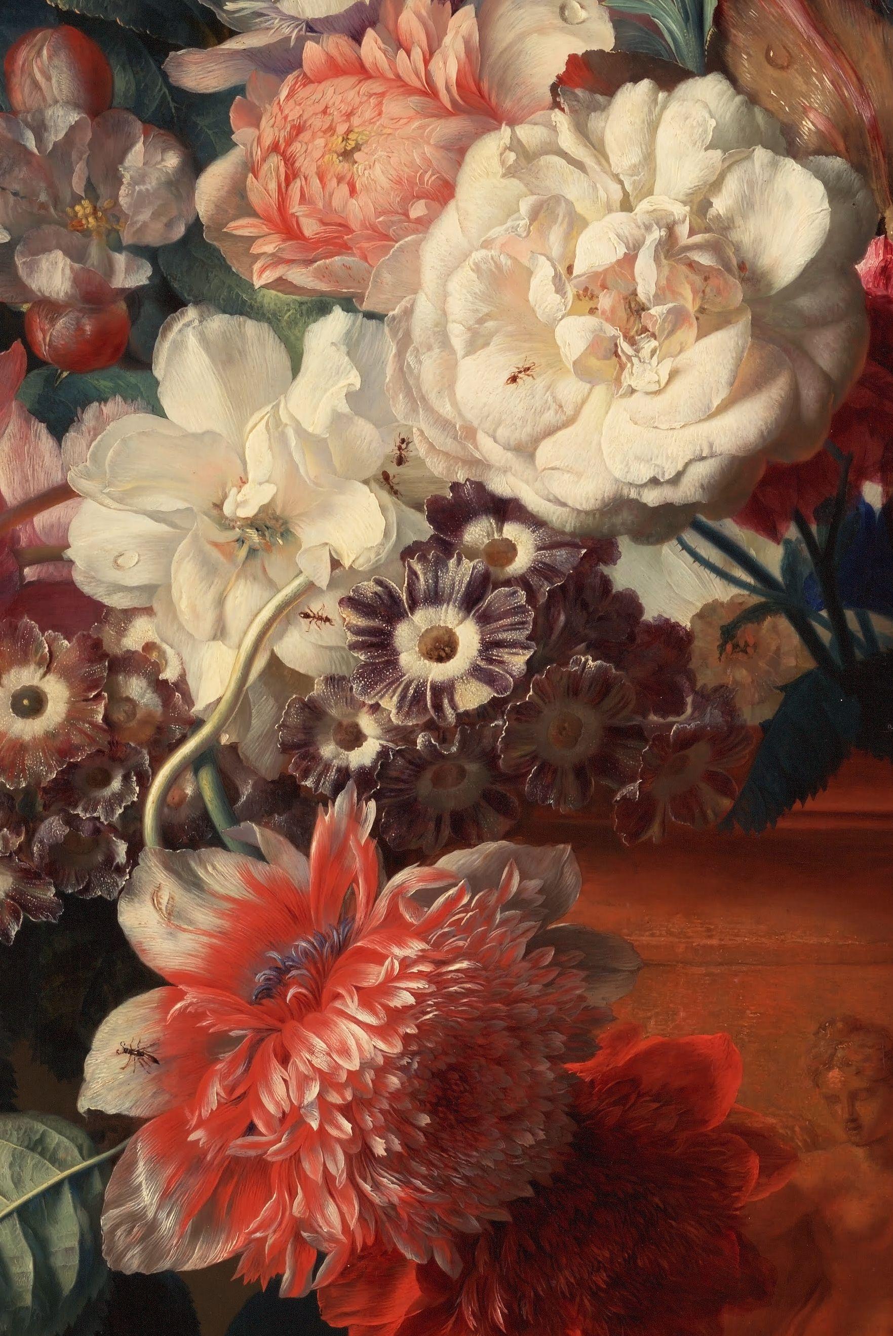 Jan van Huysum, Vase of Flowers (Detail),1722