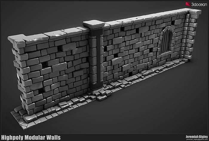 Brick Wall Using Sculpting 3d Modelle Inspiration Kunst