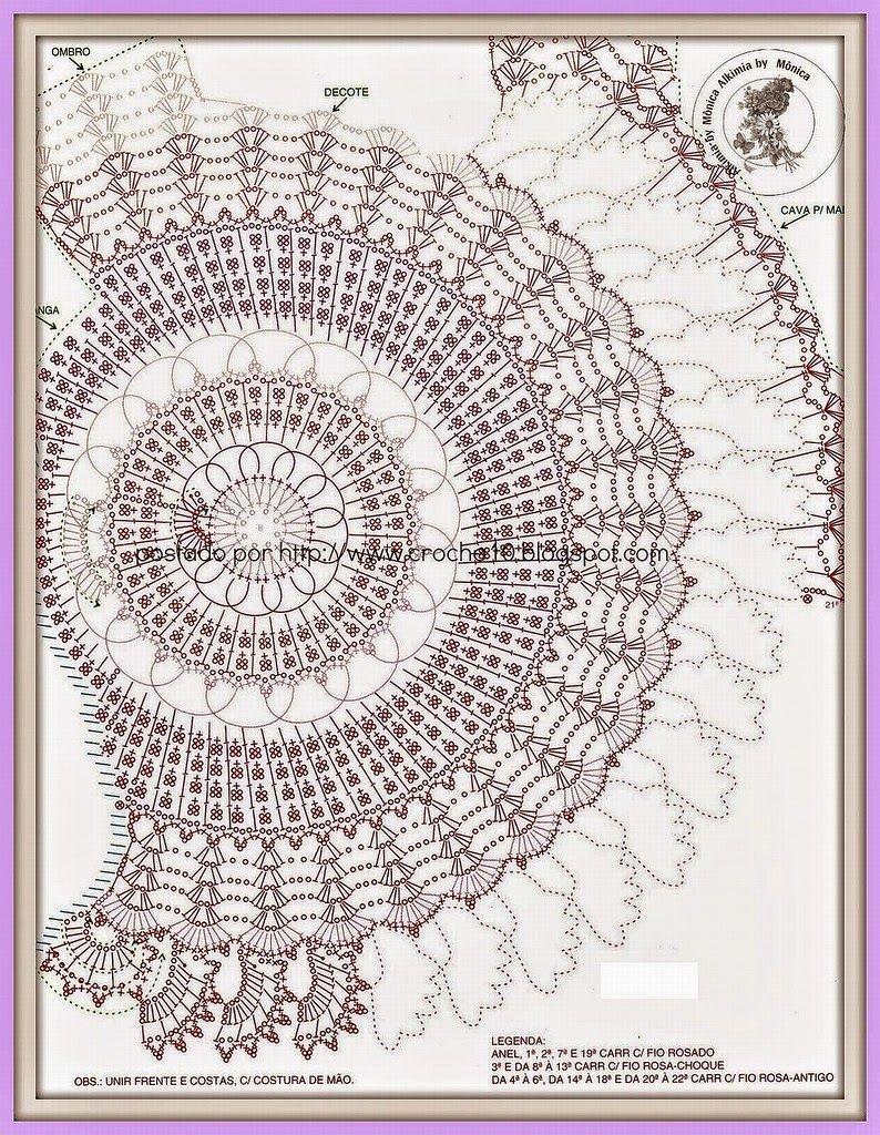 Todo crochet | top a crochet | Pinterest | Blusas tejidas con gancho ...