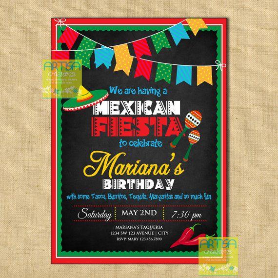 Mexican Fiesta Invitation Cinco De Mayo Party Theme Invitat