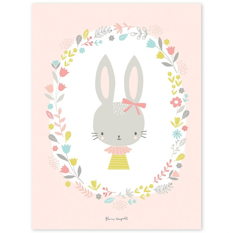 Le poster enfant lapins fille sweet bunnies by flora for Chambre d une fille