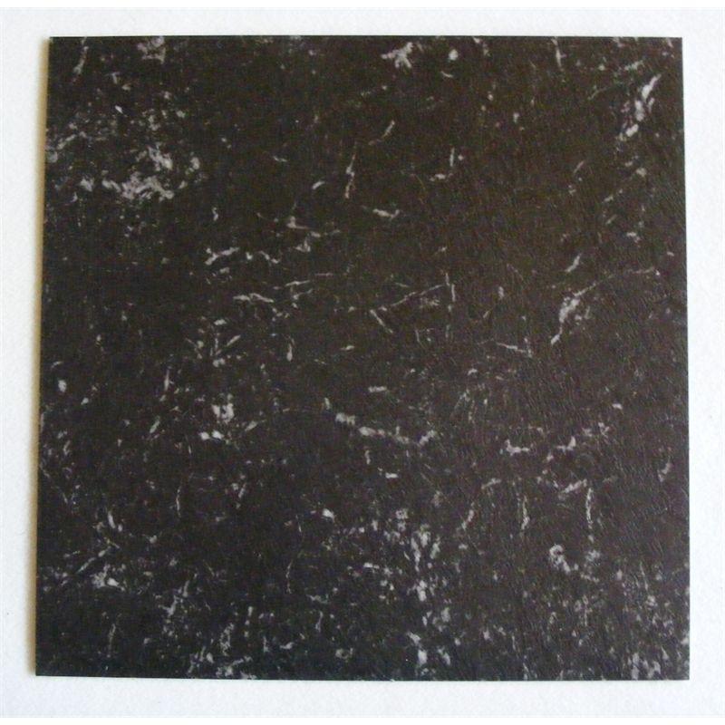 Winton 457 x 457mm Black Marble Self Stick Vinyl Tile