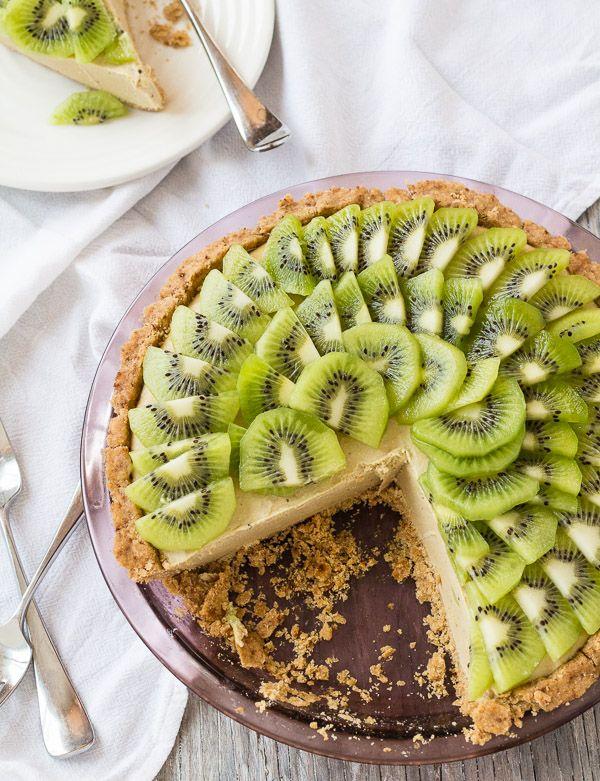 Creamy Vegan Kiwi Lime Avocado Pie