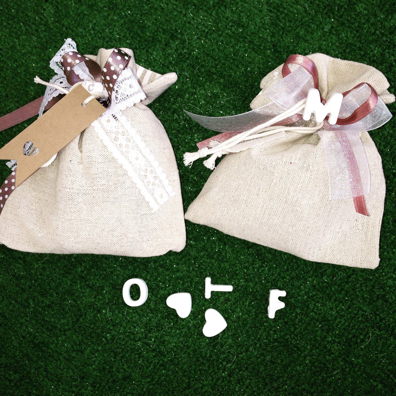 Lettere personalizzate per sacchettini porta confetti coccolosi