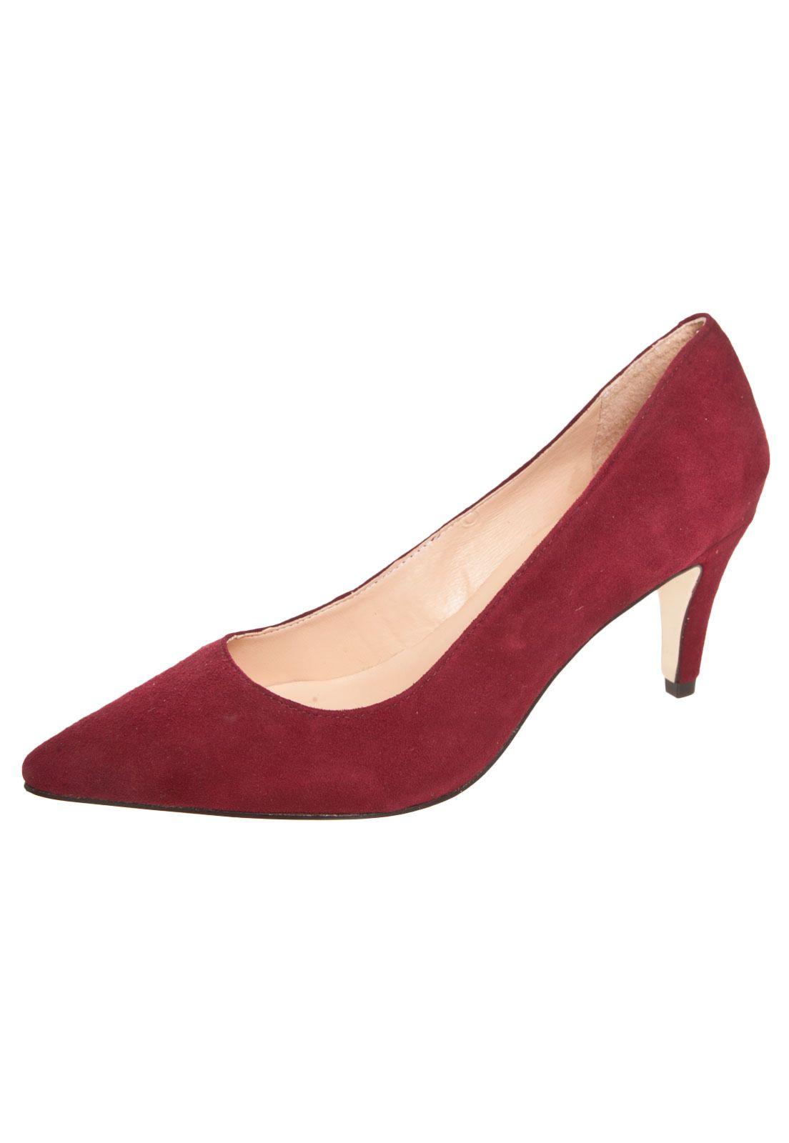 ae001cfe48 Scarpin Luiza Barcelos Salto Médio Vermelho - Compre Agora
