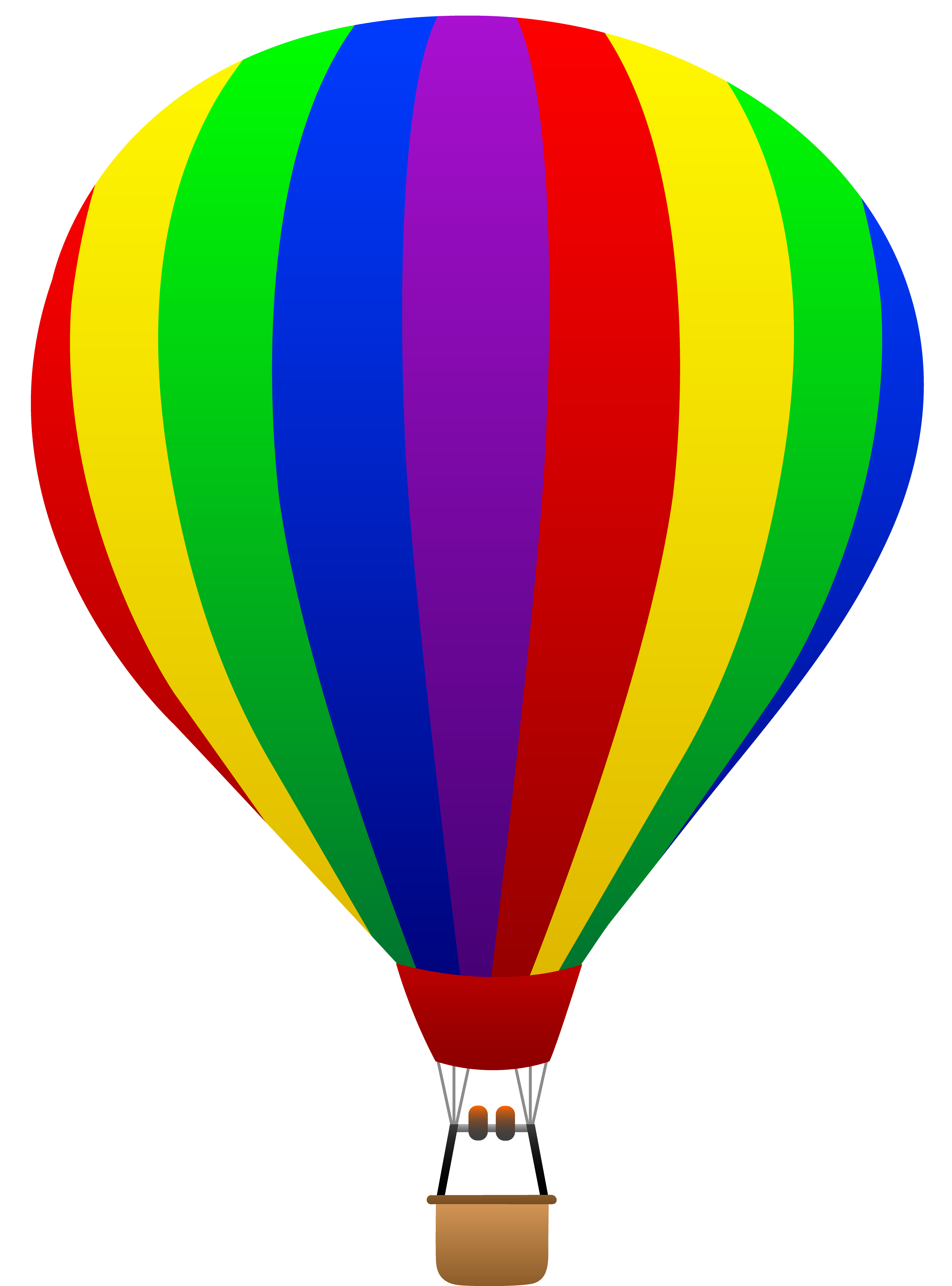 free clip art of a fun rainbow striped hot air balloon sweet clip rh pinterest com hot air balloon clipart hot air balloon clip art color sheets