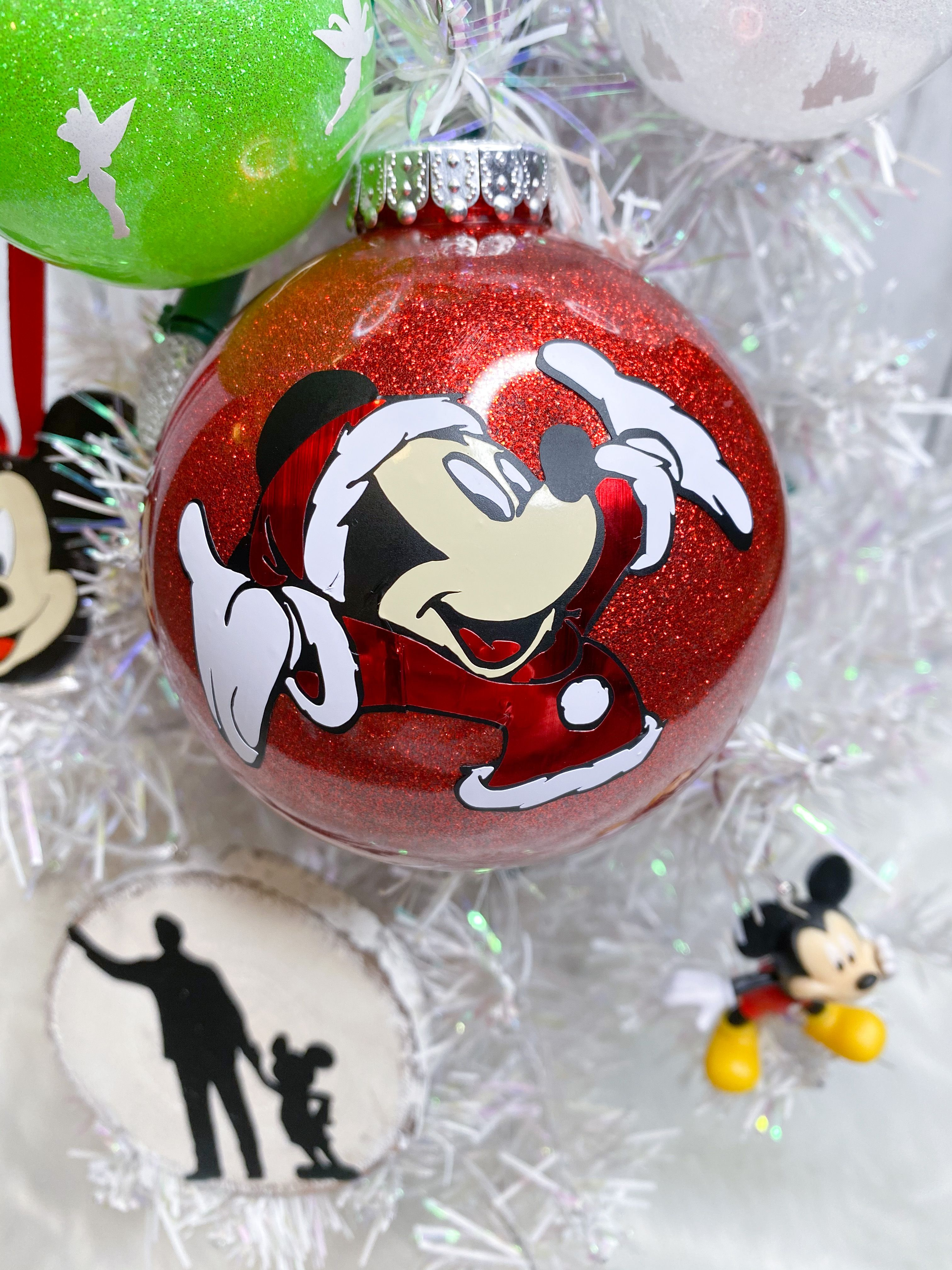 Mickey Mouse Disney Ornament Set Of 5 Free Personalization Etsy In 2021 Mickey Mouse Ornaments Disney Ornaments Diy Disney Christmas Ornaments