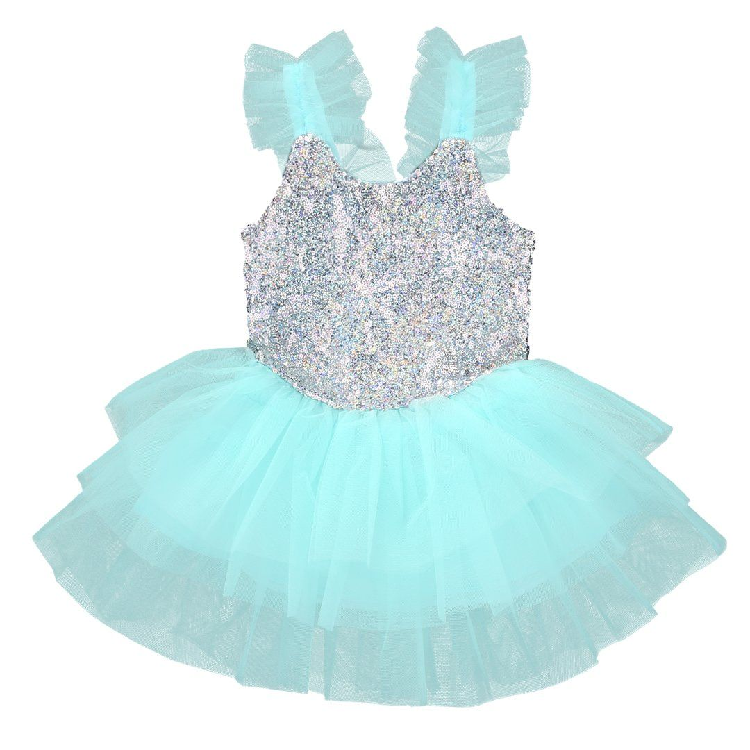 Baby Girls Sequins Princess Dress Kids Party Wedding Tulle Tutu ...