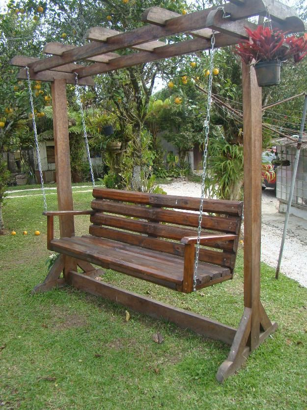 Banco de balanço para jardim Jardines Pinterest Bancos, Jardín - jardines con bancas