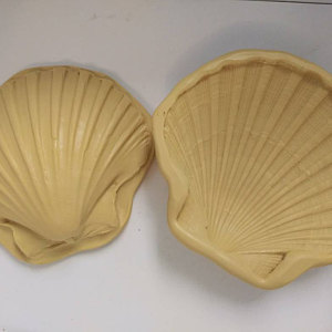4 3d Clam Shell Silicone Mold For Cake Decorating Or Polymer Clay Clam Shell Press Gumpaste Shell Mold To Make An Open Clam Shell M40 Cake Decorating Cake Decorating Supplies Beach