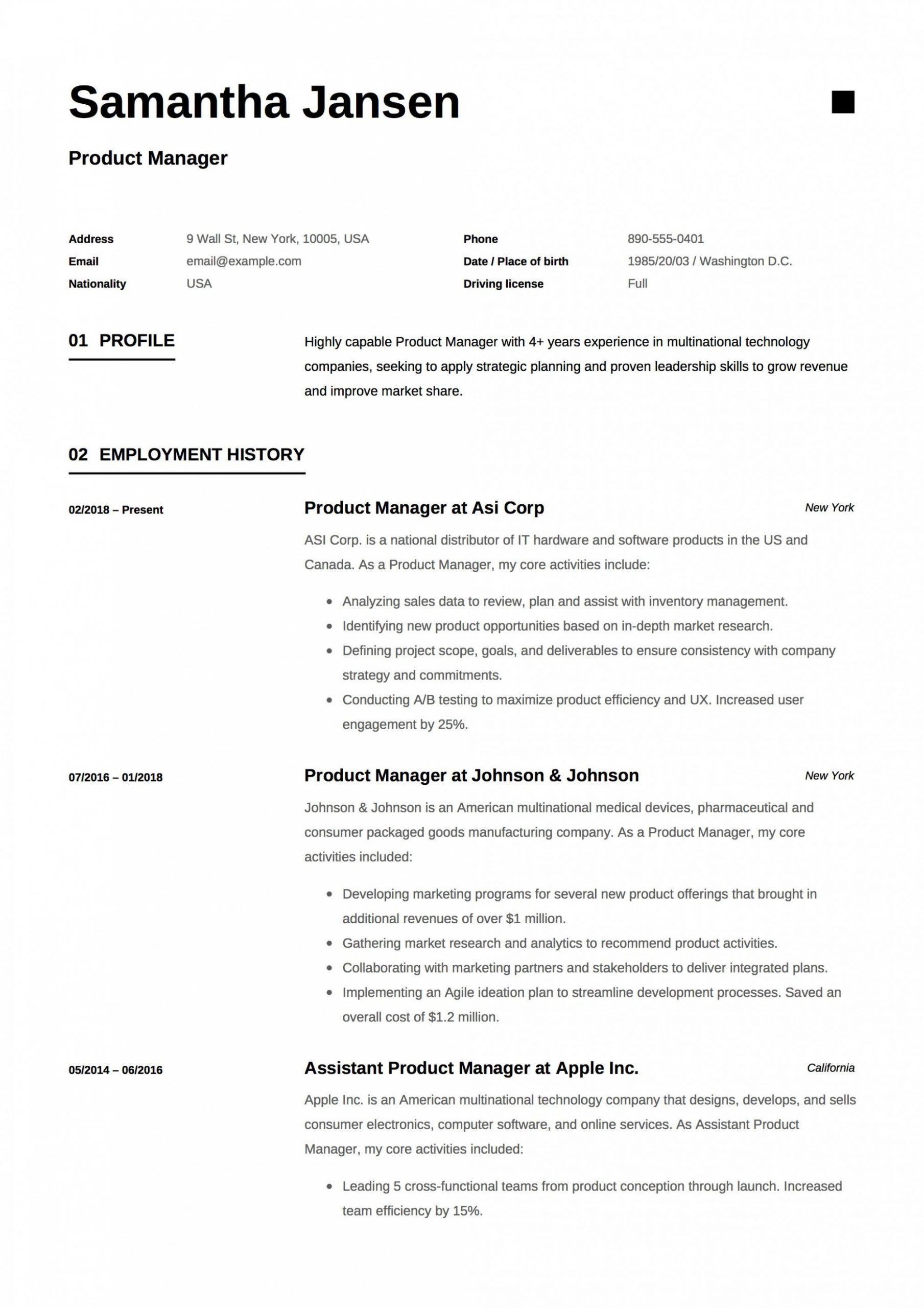 13 Easy Cv Resume Format 13 Simple Cv Resume Format