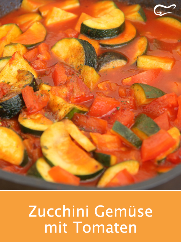 Photo of Zucchini vegetables with tomatoes are wholesome, healthy and just taste good. M …