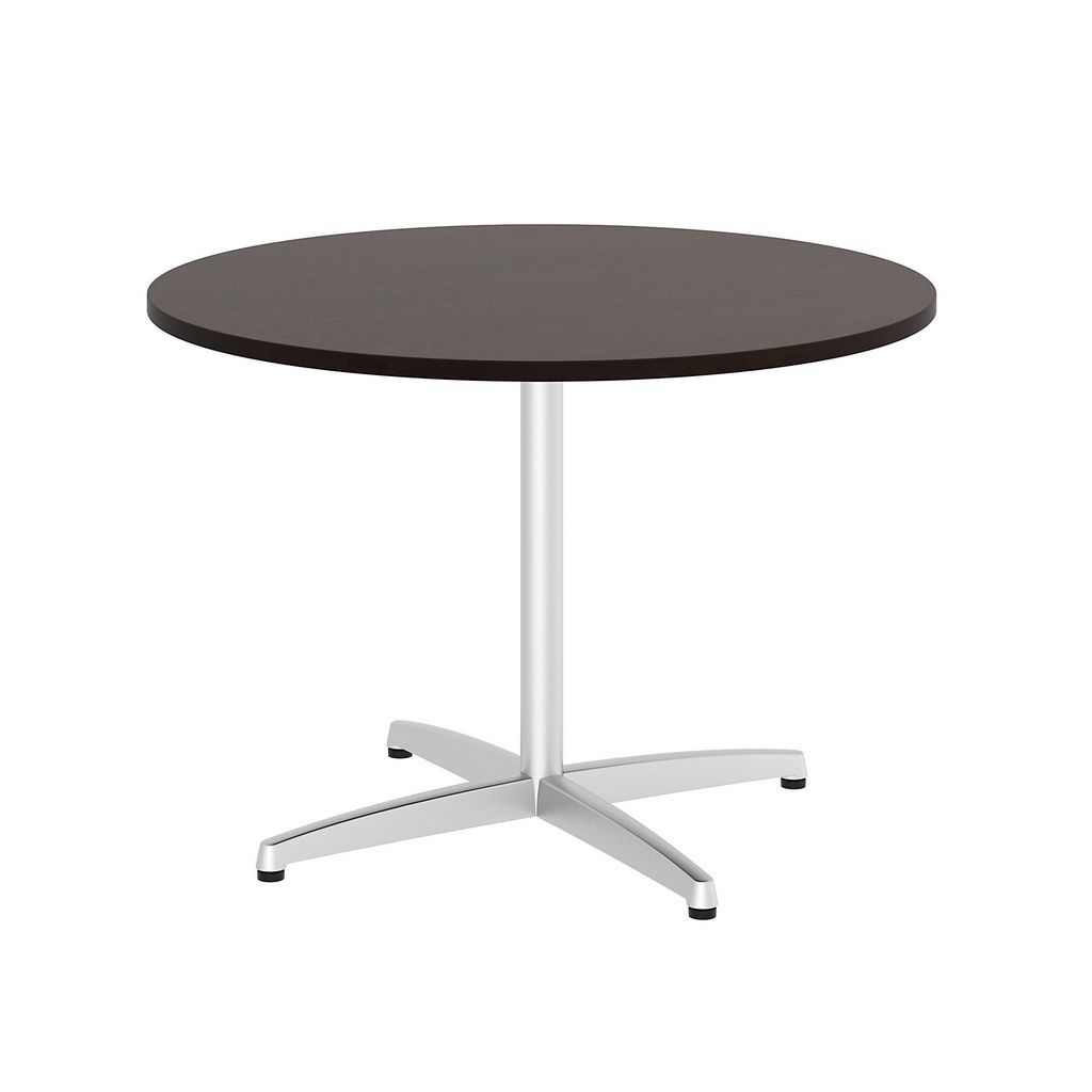 Bush Business Furniture 99tbx42rmrsvk 42 Quot Round Conference Table Metal Quot X Quot Base In Mocha