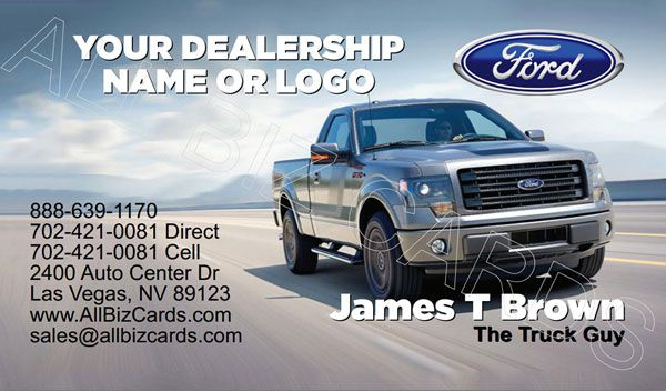 2014 Ford F150 Business Card Id 21128 Ford F150 Ford
