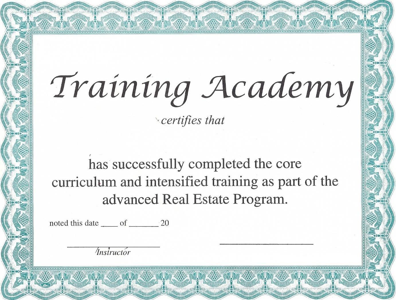 printable training certificates