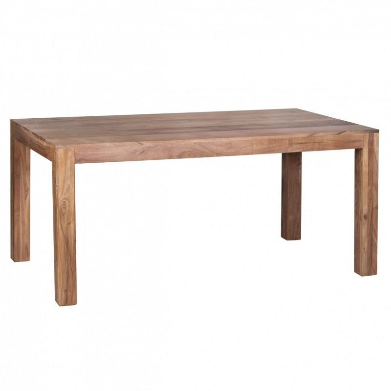Wohnling Design Esstisch Massiv 160 X 80 X 76 Cm Akazie Massivholz