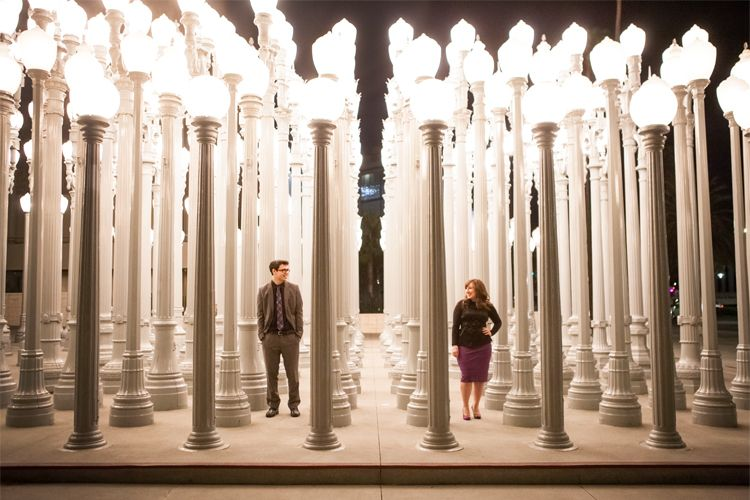 Lovely Shantal And Andyu0027s Classy Engagement Session At #LACMA. Love These Lamp  Posts! Www