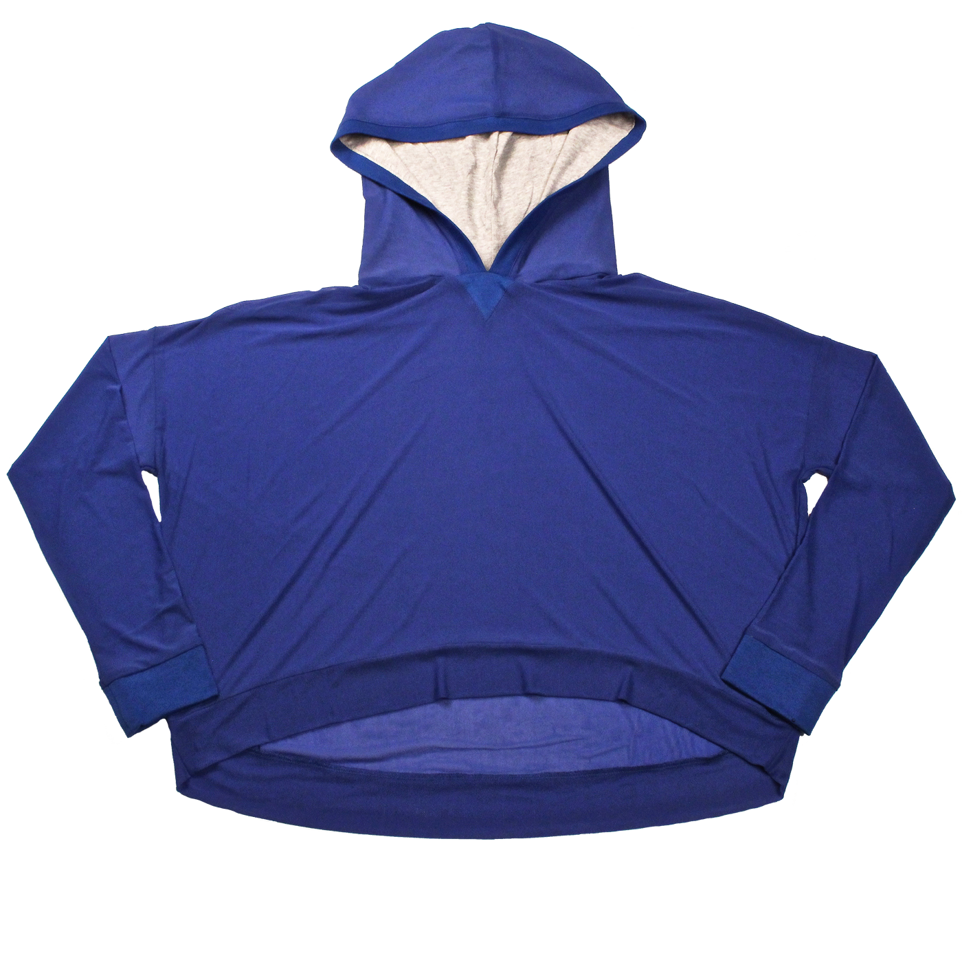 Matchup Sheer Pullover Hoodie in Blue