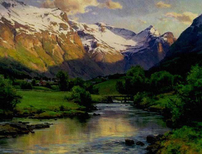 Clyde Aspevig Landscape Artist Landscape Paintings Landscape Art