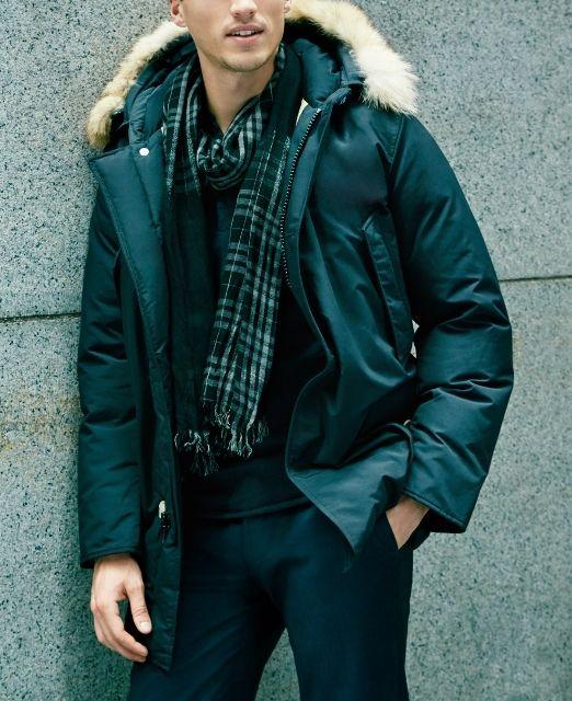 Fall fashion   Warm and stylish parka.