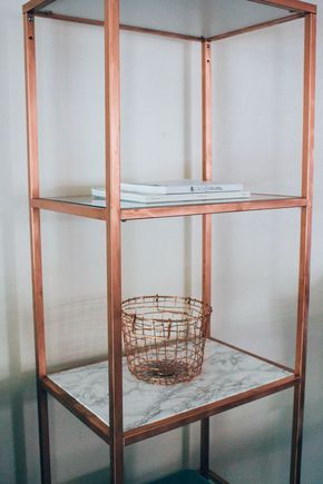 marble copper shelf diy ikea hack refashion and upcycle in 2018 pinterest. Black Bedroom Furniture Sets. Home Design Ideas