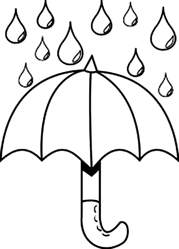 Nice Picture Of Raindrop And Umbrella Coloring Page Color Luna Umbrella Coloring Page Coloring Pages Umbrella