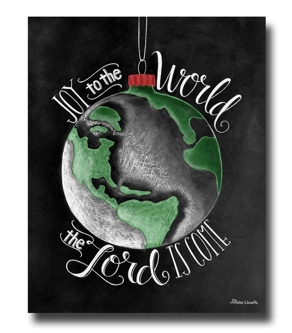 Items similar to Joy To The World, Christmas Decor, Christmas Art, Holiday Art, Holiday Decor, Chalkboard Art, Chalk Art, Typography Print, Hand Lettering on Etsy